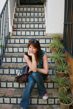 Suzi Perry in Seville